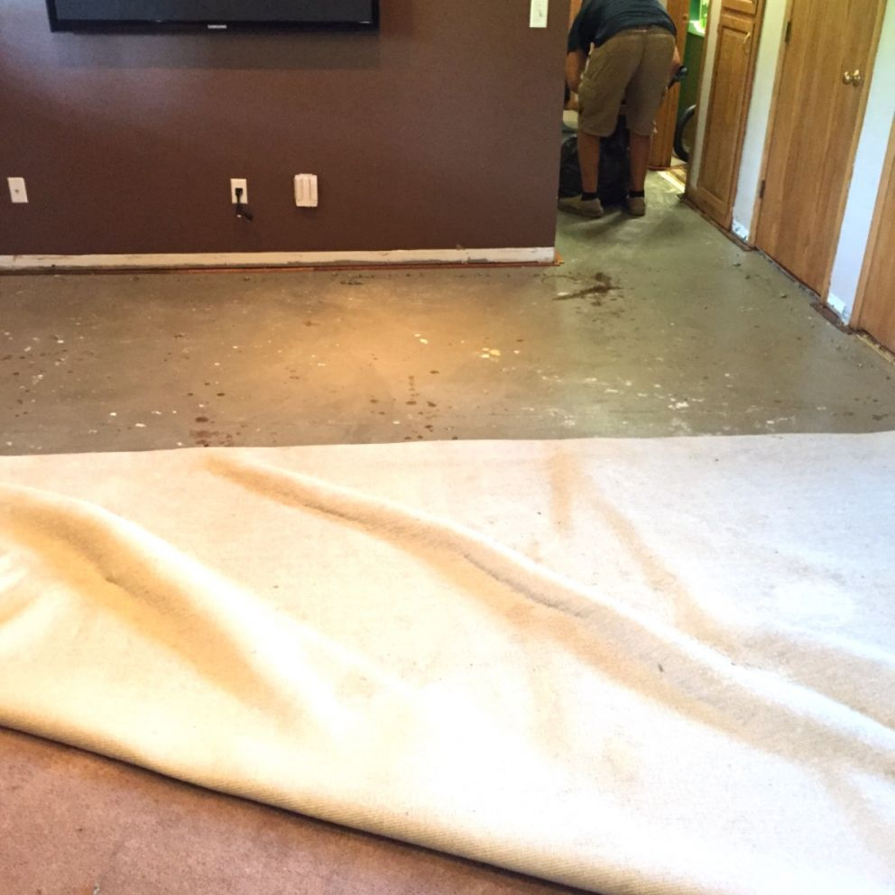 Remove Wet Carpet Pad